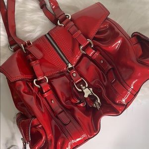 Francesco Biasia | Red Leather Satchel Purse